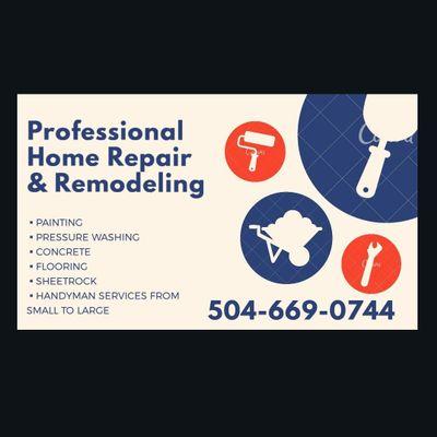 Professional Home Repair & Remodeling Harvey, LA Thumbtack
