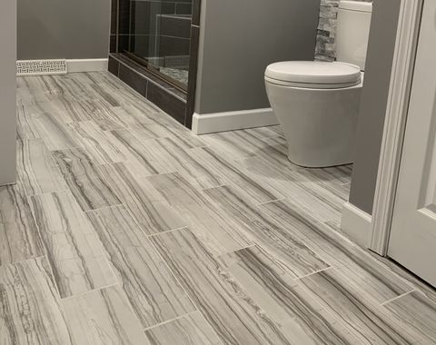 Gray modern bath