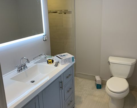 Bathroom and master bathroom