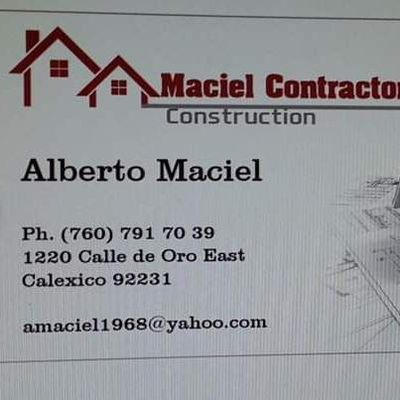Maciel Contractors Construction Calexico, CA Thumbtack