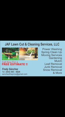 JAF lawn cut & Cleaning Service llc Columbia, MD Thumbtack