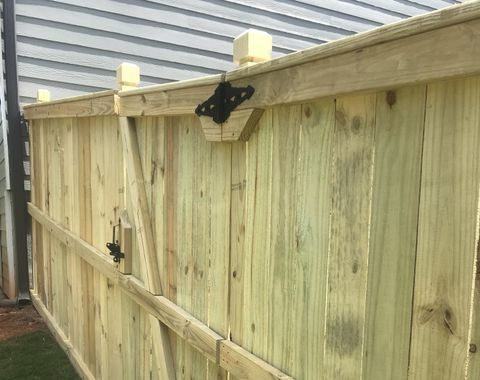 Flat top fence with dado post