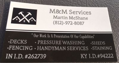 M & M Services Hardinsburg, IN Thumbtack