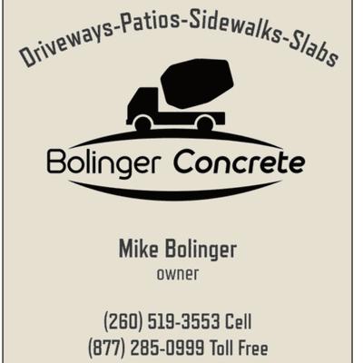 Bolinger Concrete Huntington, IN Thumbtack