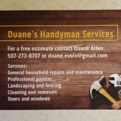 Duane's Handyman Services LLC - Rochester, MN