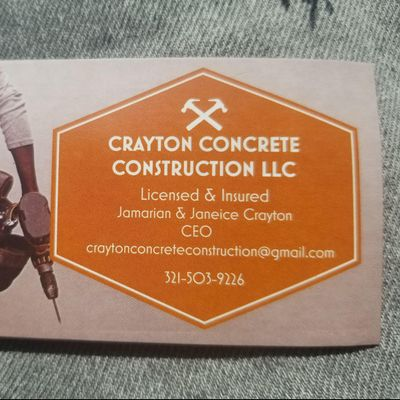 Crayton Concrete Construction llc Orlando, FL Thumbtack