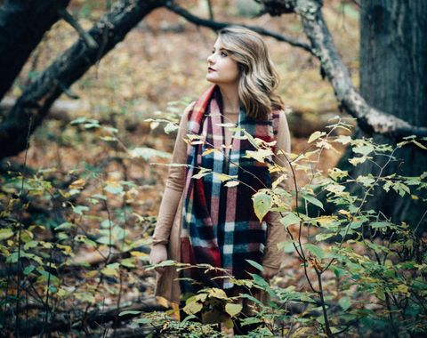 Outside fall photo session
