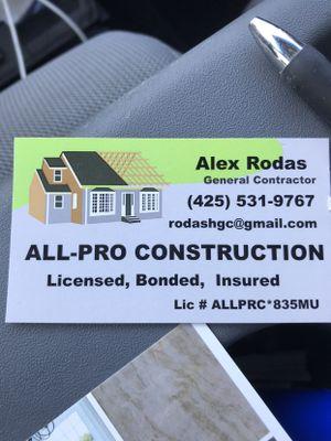 ALL-PRO CONSTRUCTION Lynnwood, WA Thumbtack