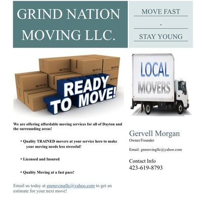 GRIND NATION MOVING LLC. Xenia, OH Thumbtack