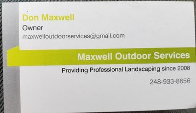 Maxwell Outdoor Services LLC Sterling Heights, MI Thumbtack