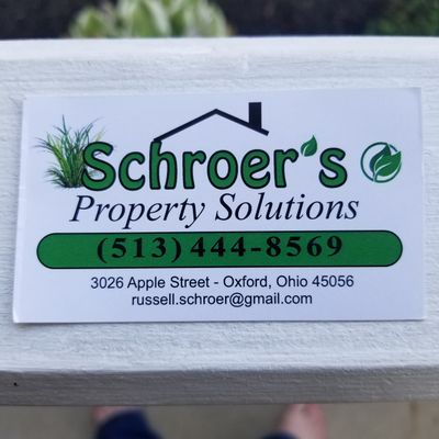 Schroer's Property Solutions LLC Oxford, OH Thumbtack