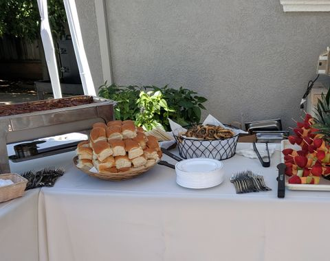 Poolside Heavy Appetizers with Full Service for 75 guests
