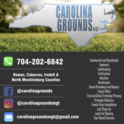 Carolina Grounds Managament Kannapolis, NC Thumbtack