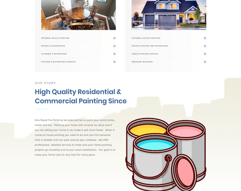Custom Website For Painting Service