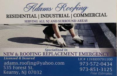 Adams Roofing llc Kearny, NJ Thumbtack