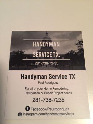 Handyman service tx - Katy, TX