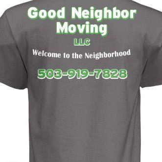 Good Neighbor Moving LLC Wilsonville, OR Thumbtack