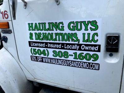 Hauling Guys & Demolitions LLC Metairie, LA Thumbtack