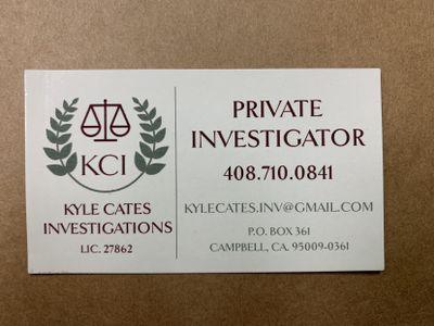 Kyle Cates Investigations Campbell, CA Thumbtack