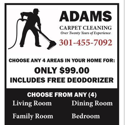 Adams Carpet Cleaning District Heights, MD Thumbtack