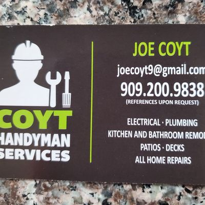 COYT HANDYMAN SERVICES Upland, CA Thumbtack