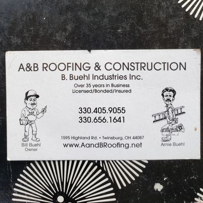 A&B ROOFING INC. Twinsburg, OH Thumbtack