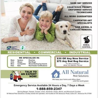 All Natural Pest Control Solutions Secaucus, NJ Thumbtack