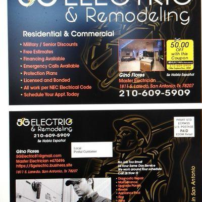 5G ELECTRIC & REMODELING LLC San Antonio, TX Thumbtack