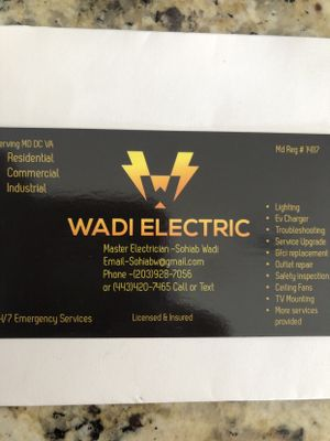Wadi Electric Co Ellicott City, MD Thumbtack