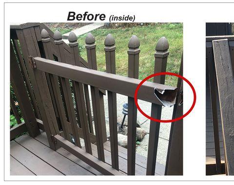 Rebuild Gate on Porch