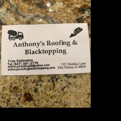 Anthony's roofing & blacktopping Des Plaines, IL Thumbtack