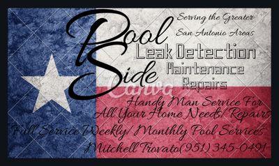 Pool Side Leak Detection Maintenance&Handyman Converse, TX Thumbtack
